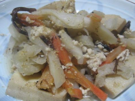五島三菜と高野豆腐の煮物