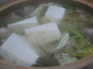 鶏の湯豆腐
