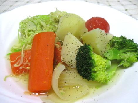 千切りキャベツの野菜スープ