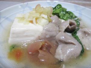 さっぱり肉豆腐