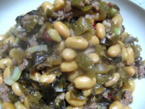 高菜と大豆の炒め煮