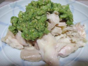 茹で鶏のきゅうり胡麻ソース