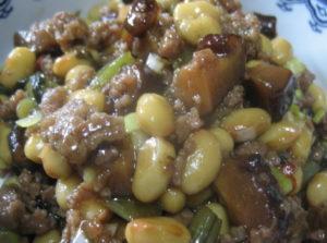 大豆と野沢菜の炒め煮