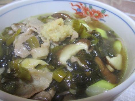 高菜の簡単レシピ・豚肉と高菜のあんかけそば